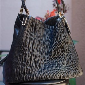 Authentic Coach Black Leather Large Hobo Bag